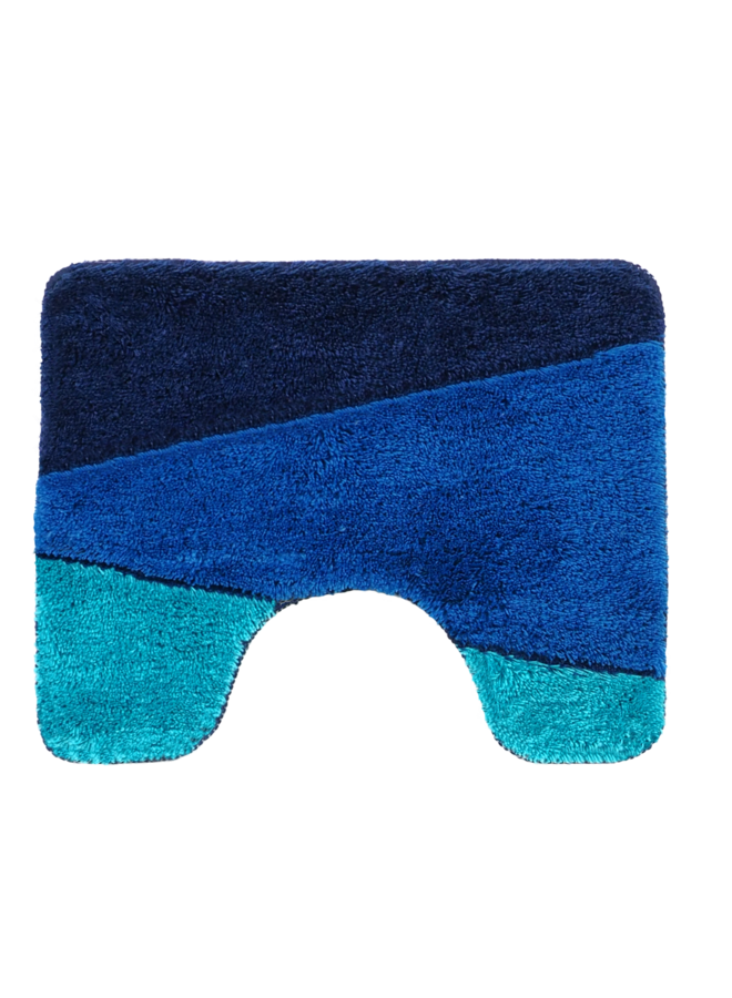 Alpes badmat blauw