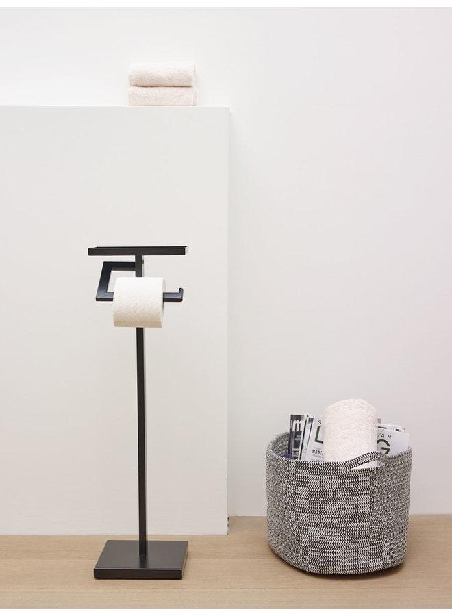 Moon Toiletpapier houder Zwart