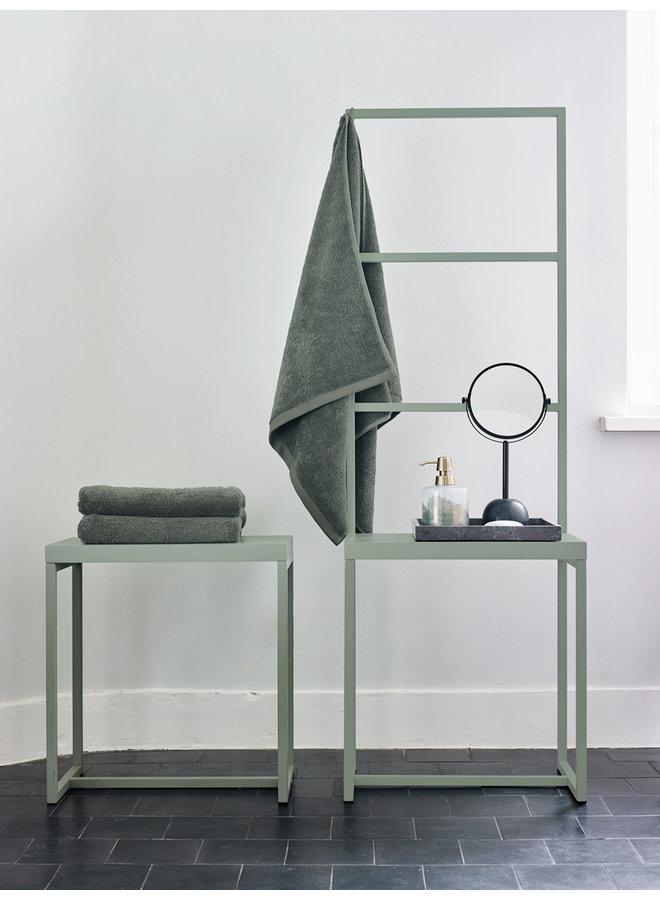 Orto Badkamerbank met handdoekrek Zwart