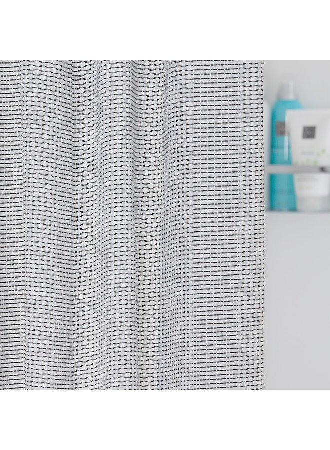 Sealskin Wave Douchegordijn Polyester 180x200cm Zwart