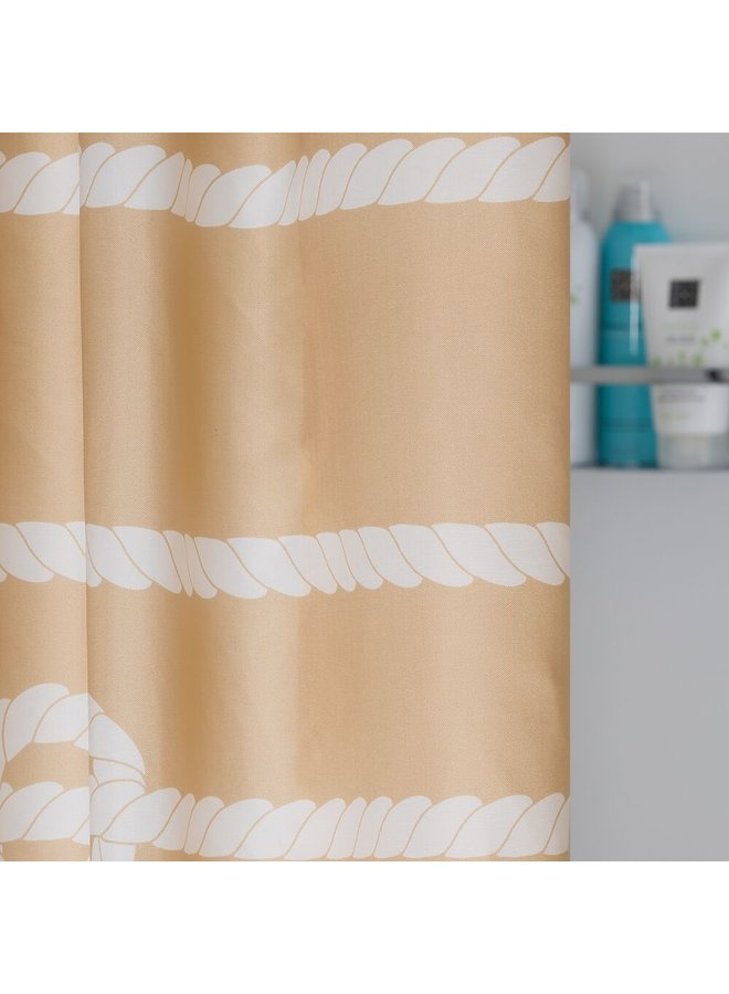 Sealskin Rope Douchegordijn Polyester 180x200 cm Zand