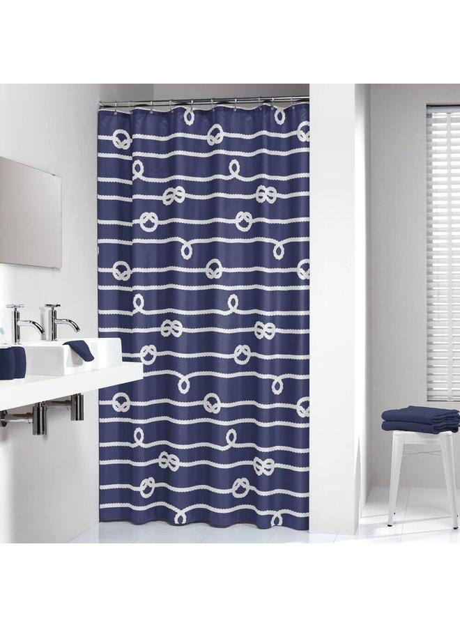 Sealskin Rope Douchegordijn Polyester 180x200 cm Blauw