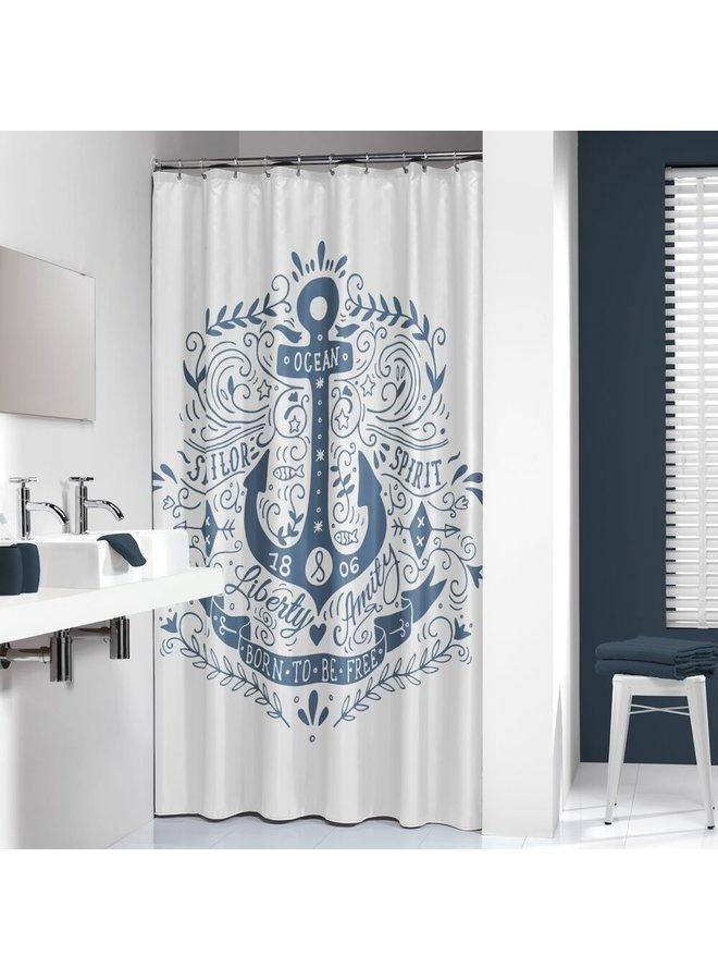 Sealskin Anchor Douchegordijn Polyester 180x200 cm Blauw