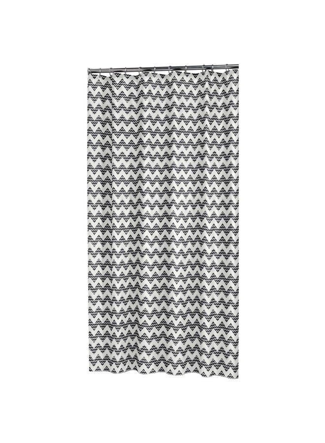 Sealskin Motif Douchegordijn Polyester 180x200 cm Zwart