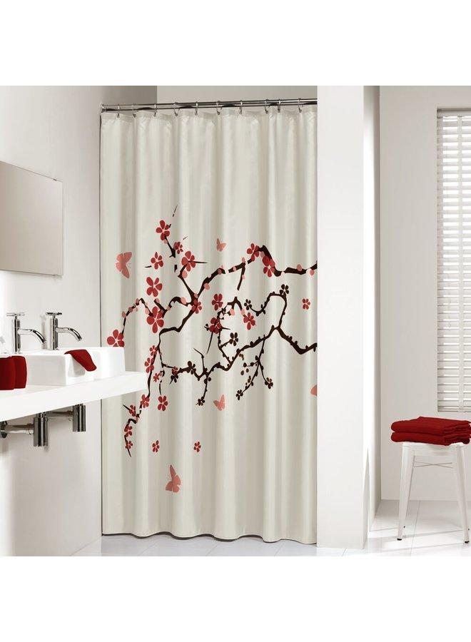 Sealskin Blossom Douchegordijn Polyester 180x200 cm Rood