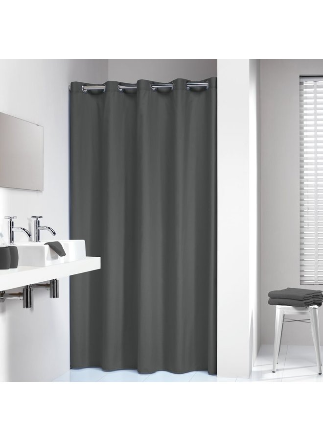 Sealskin Coloris Douchegordijn Polyester/Katoen 180x200 cm Grijs
