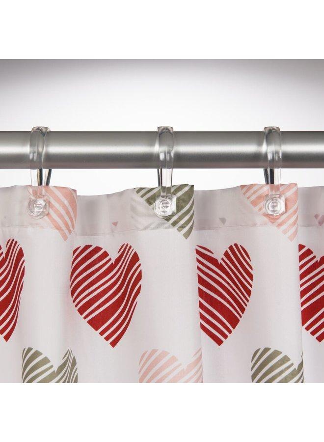 Sealskin Amor Douchegordijn Polyester 180x200 cm Rood