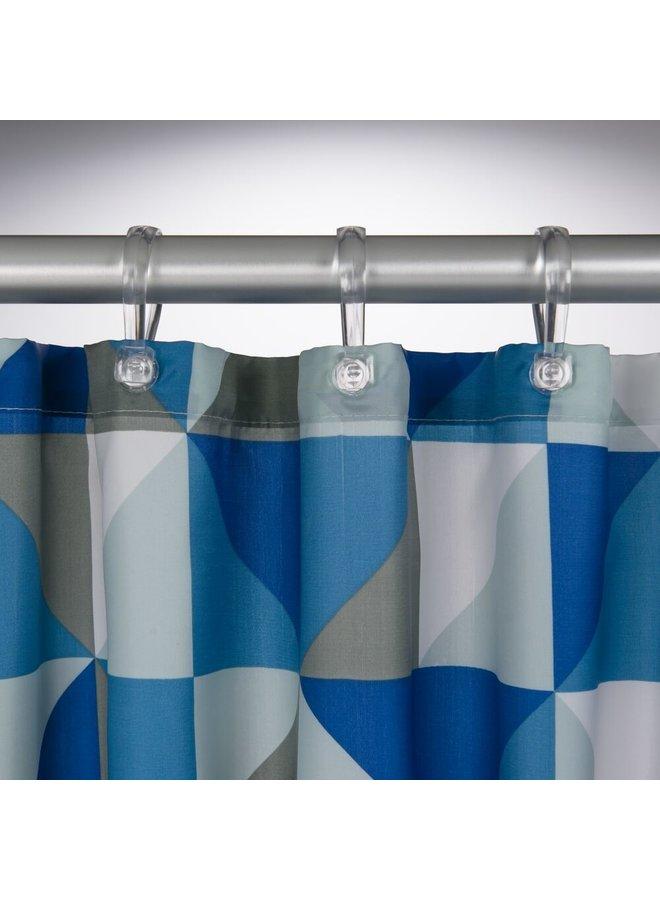 Sealskin Tangram Douchegordijn Polyester 180x200 cm  Blauw