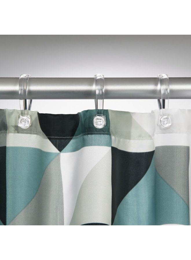 Sealskin Tangram Douchegordijn Polyester 180x200 cm Zwart