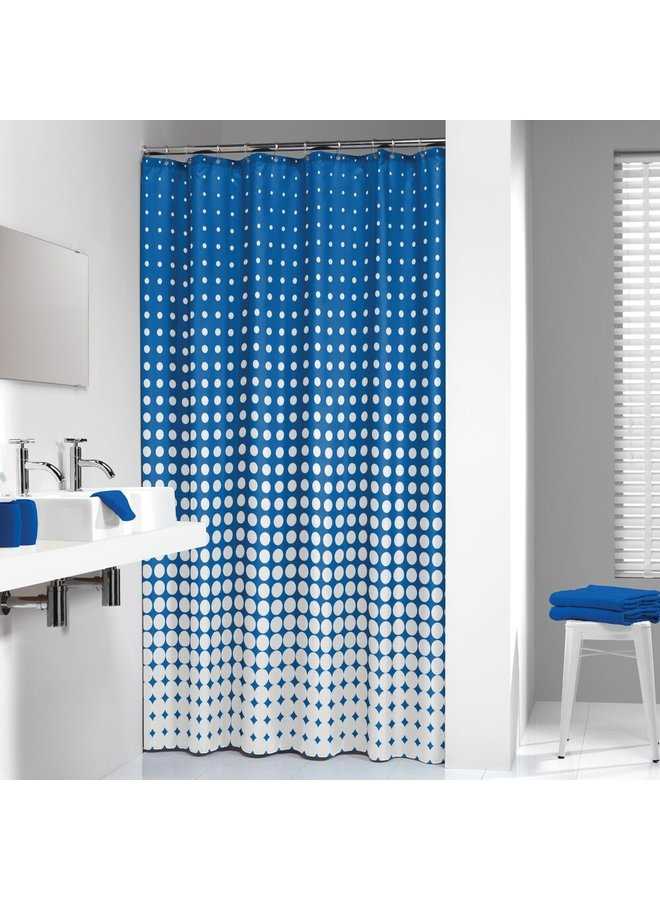 Sealskin Speckles Douchegordijn Polyester 180x200 cm royal Blauw