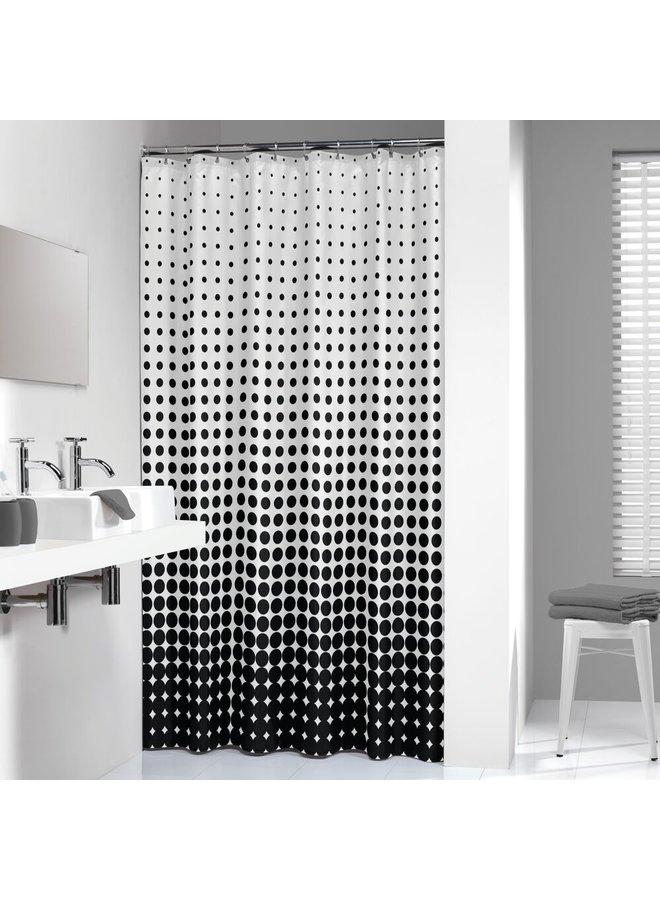 Sealskin Speckles Douchegordijn Polyester 180x200 cm Zwart