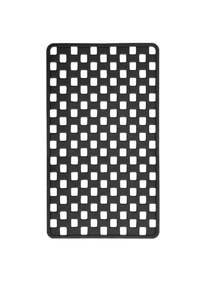 Doby Veiligheidsmat 38x75 cm Rubber Zwart