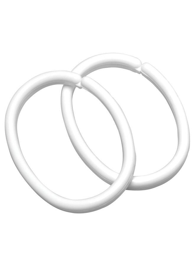 Clips ring 12 stuks wit