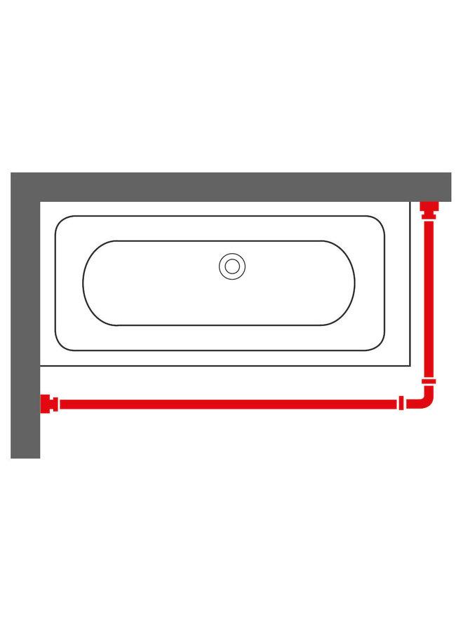 Sealskin Seallux Douchegordijnstang Combi RVS Mat aluminium