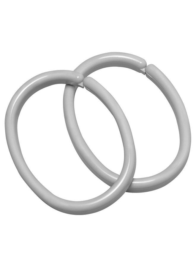 Clips ring 12 stuks grijs