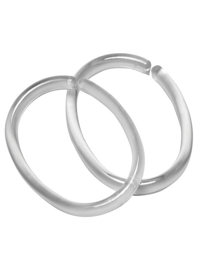 Clips ring 12 stuks transparant