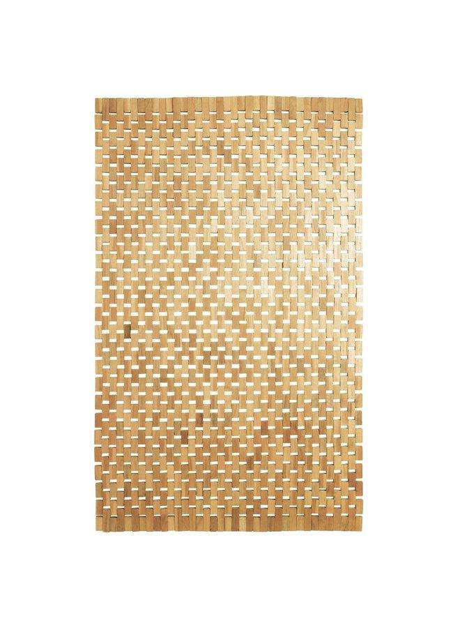 Woodblock Badmat teak bruin