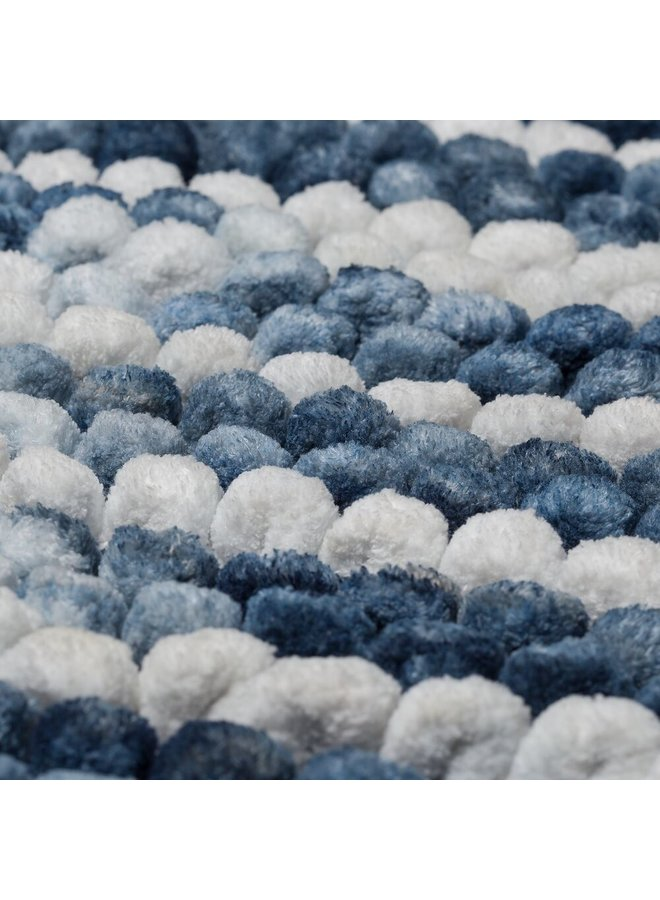 Vintage Badmat Blauw 50x80cm