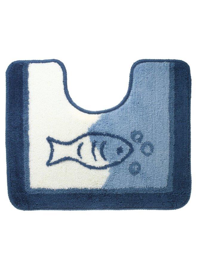 Marina toiletmat blauw