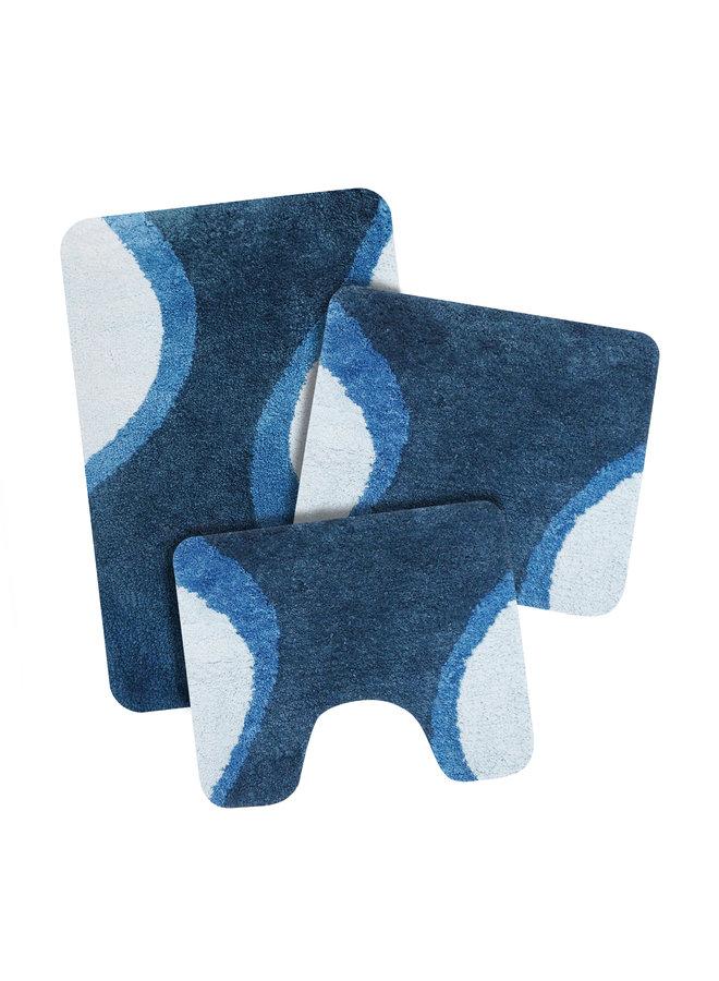 Metz badmat blauw
