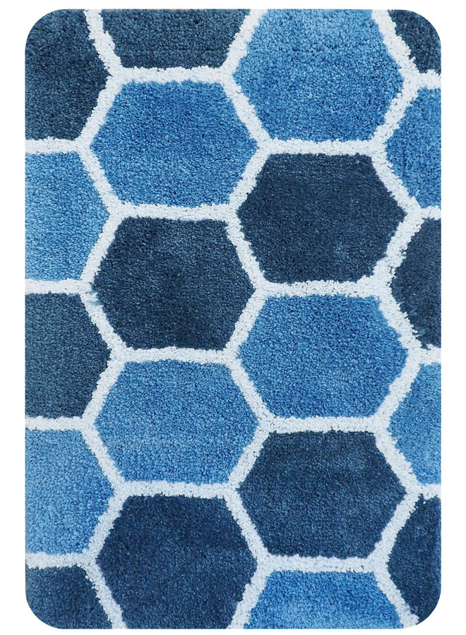 Rennes badmat blauw