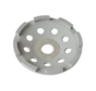Collomix Slijpkom UST 125 Universal (grijs), Ø 125 mm, H = 22 mm, b. v. voor nieuw beton, tegellijm, incl. lamellenring-set