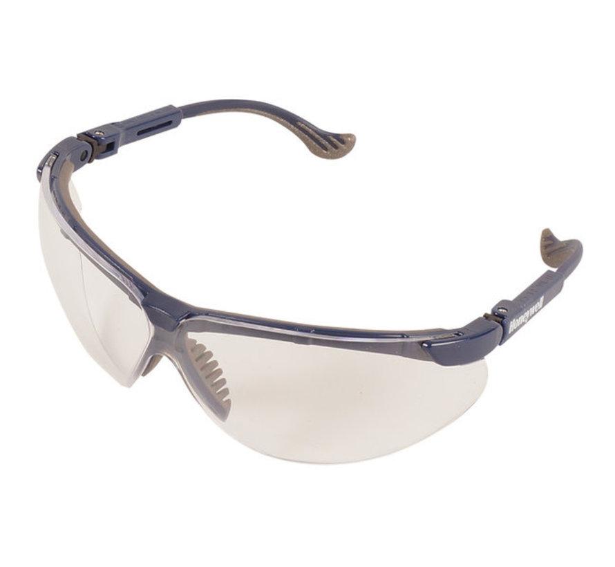 Veiligheidsbril XC Blue met blanke lens