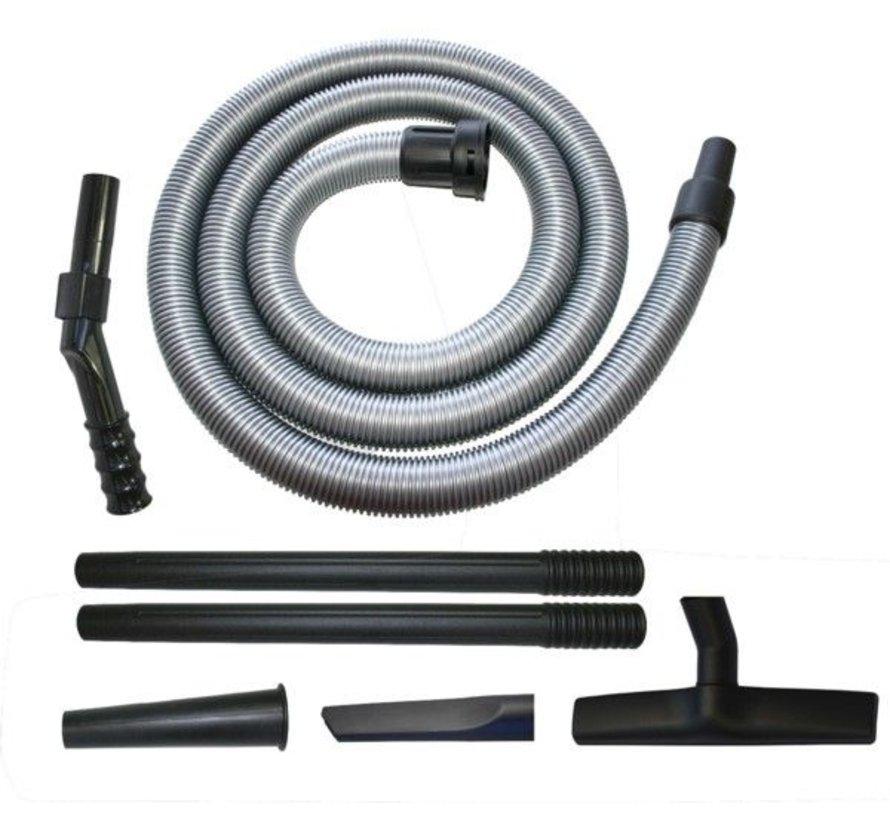 Collomix Standaard zuigset voor stofzuiger VAC 35 M, bestaande uit 2 x stofmondstuk met hard bodenminzetstuk, 1 x greepbuis roestvrij staal, 2 x aanzuigbuis roestvrij staal, 2 x spleetmondstuk