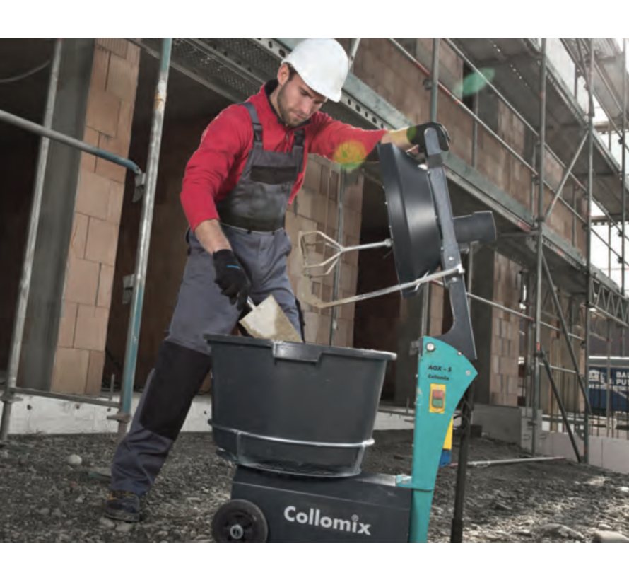 Collomix Roterende kuip menger AOX-S, tweevoudige aandrijving 1 kW/0,55 kW/230 volt, incl. mengwerk AOX-DLX, AOX-KR, max. mengvolumne 50 kg