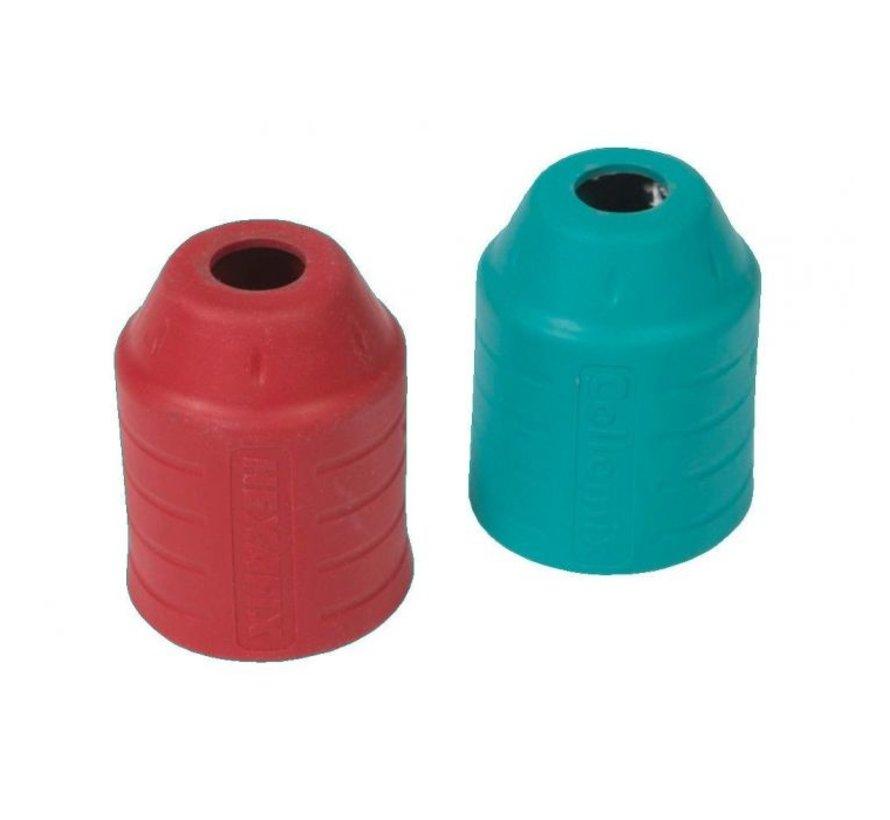 Collomix Set Beschermhulzen rood / turquoise voor Xo-duo