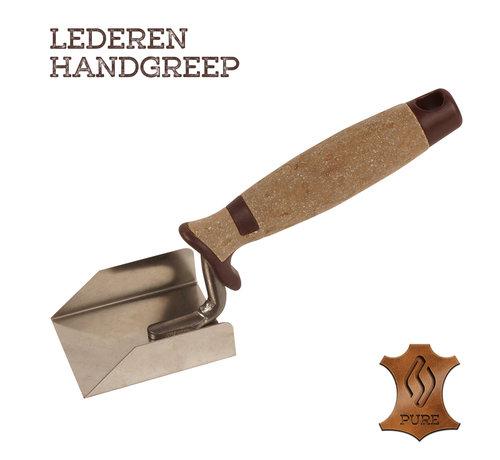 Super Prof Super Prof Hoektroffel inwendig 70x60x20mm RVS Lederen greep