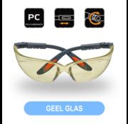Veiligheidsbril Verstelbaar Geel Glas