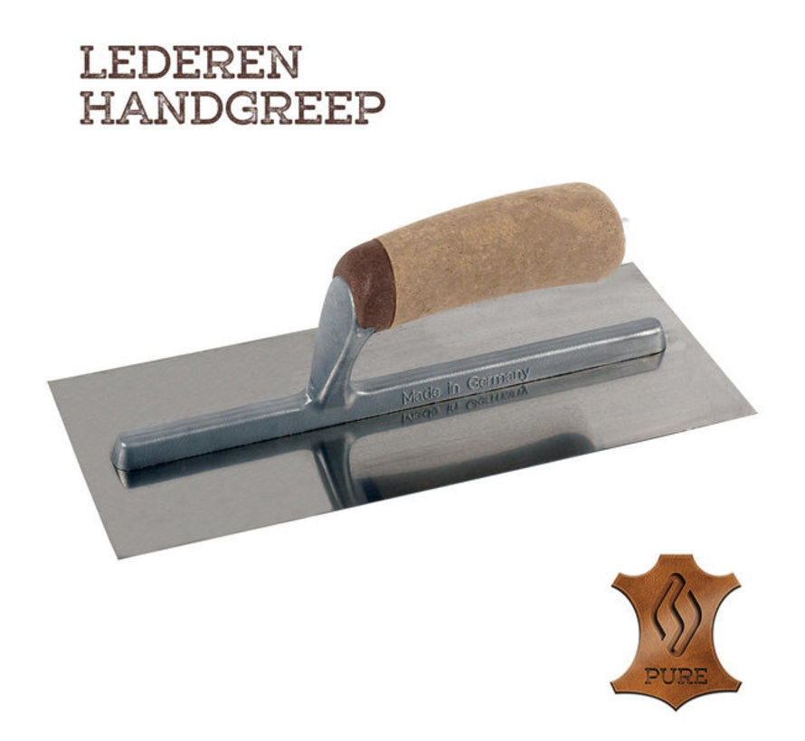 Pleisterspaan PURE 480x120x0,65 mm RVS Handgreep Leer