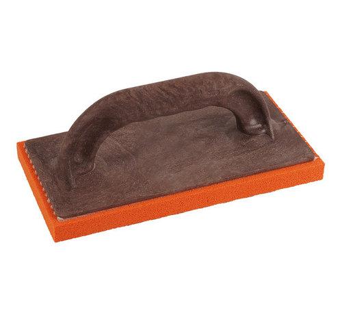Schuurspons kunststof oranje fijn 280x140x20mm