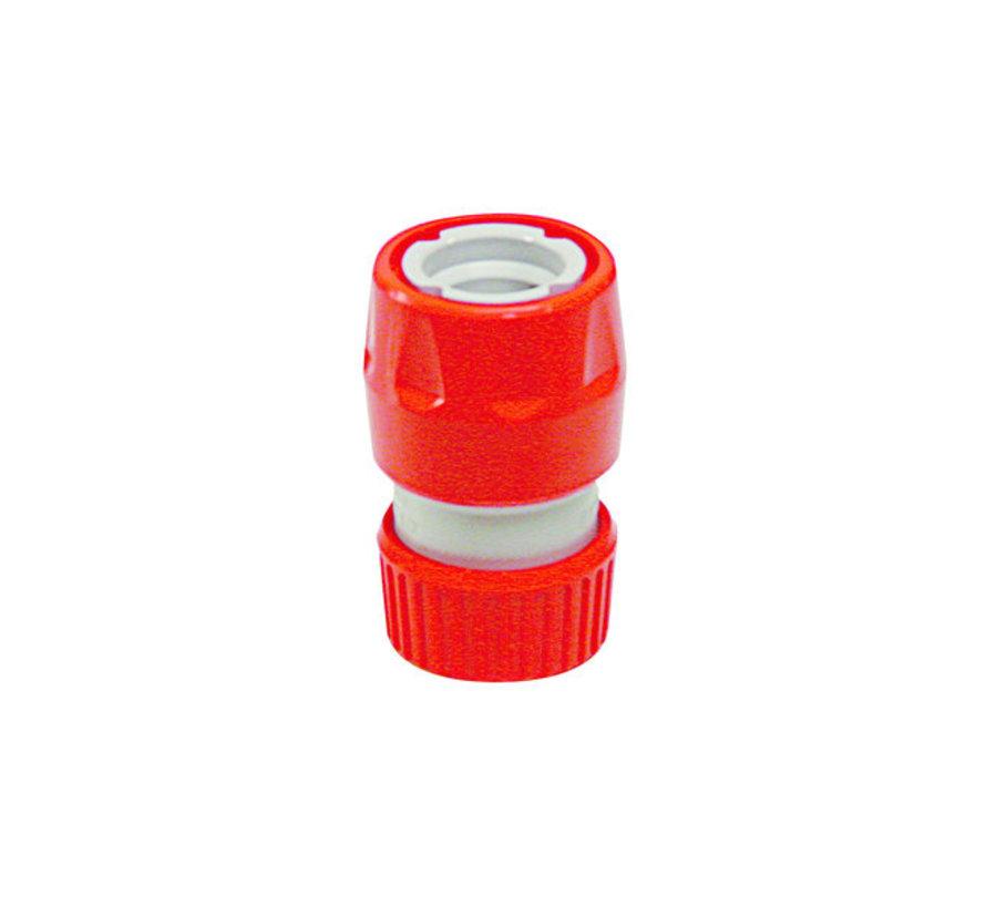 Snelkoppeling met stop en slanghouder 12-18 mm Kunststof