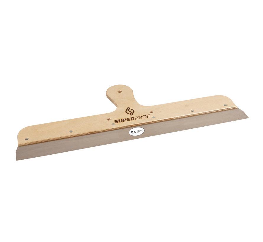 Spackmes 600 mm RVS houten greep