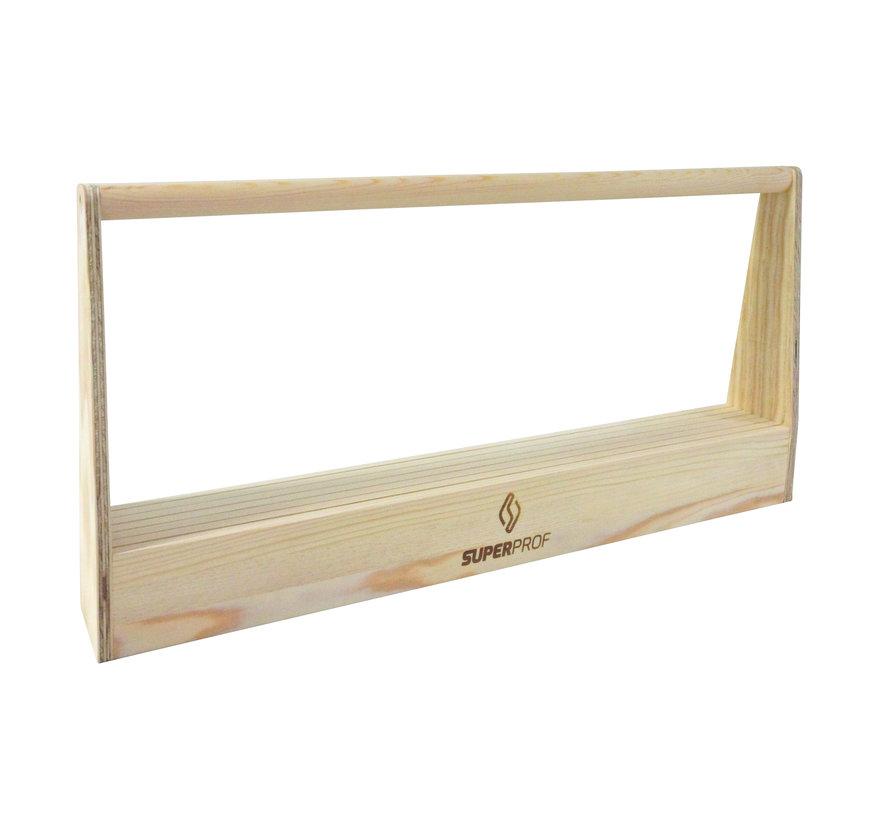 Spackmesbak hout 63x8,5x30 cm