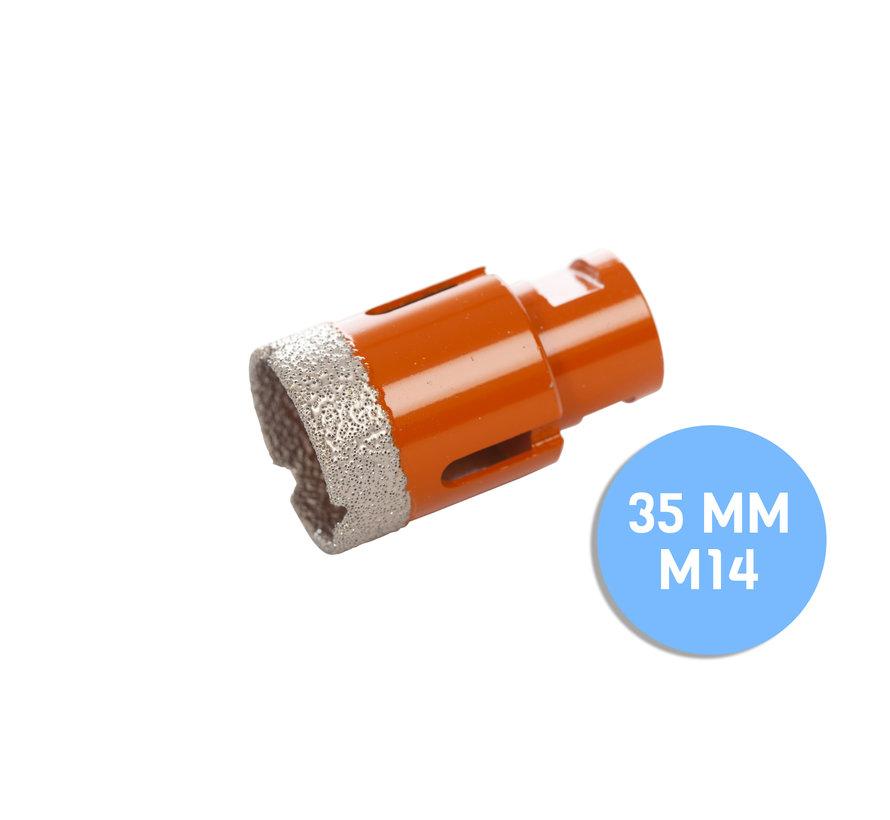 Fix Plus ® Tegelboor M14 - Ø 35mm.