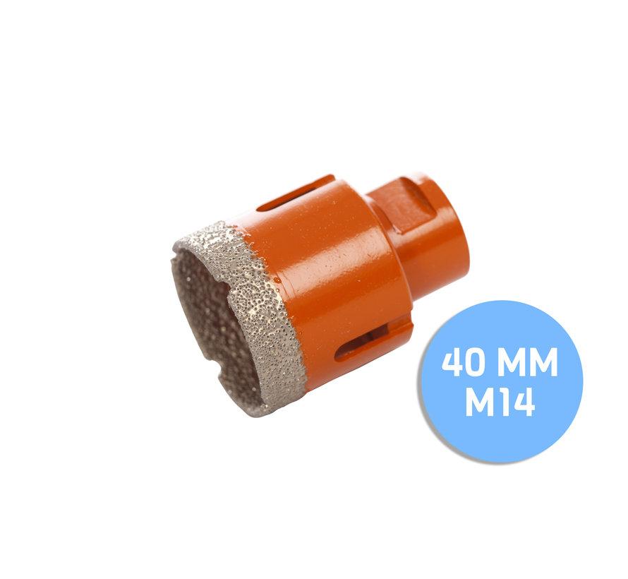 Fix Plus ® Tegelboor M14 - Ø 40mm.