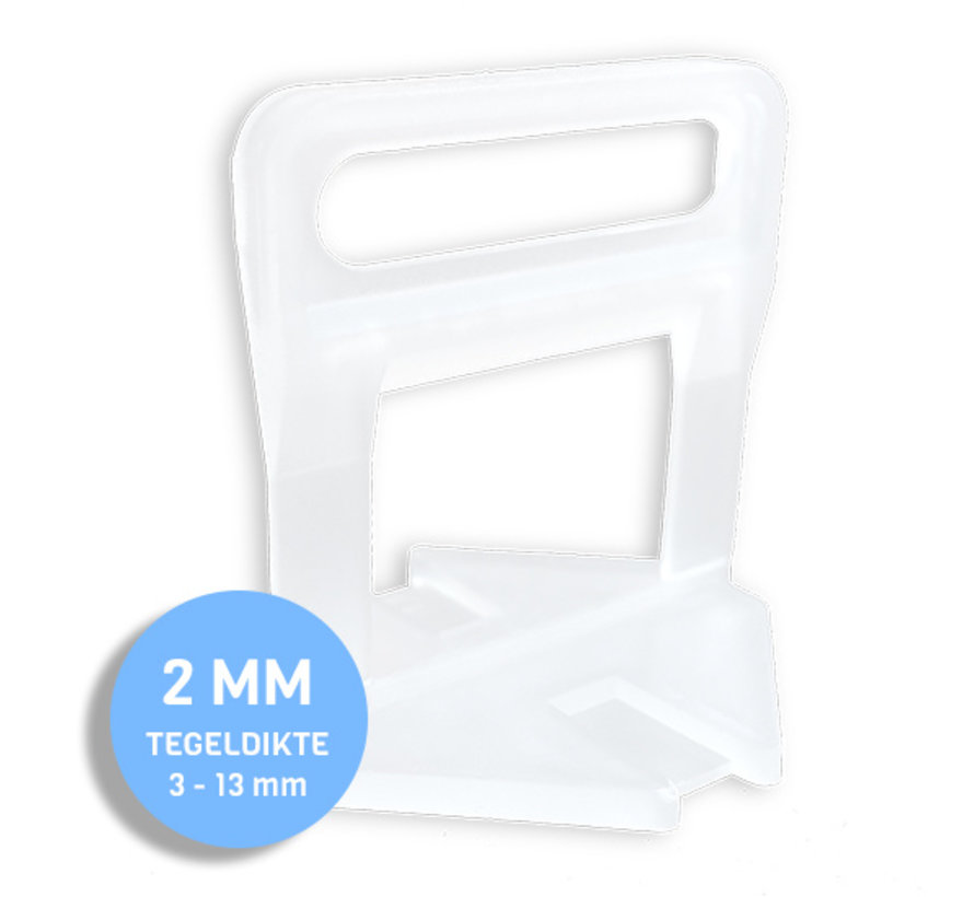 Fix Plus ® Levelling Clips 2 mm. 500 st.