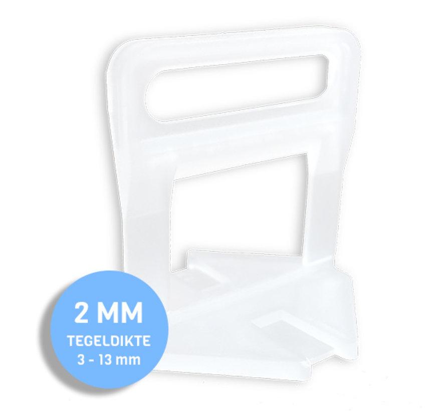 Fix Plus ® Levelling Clips 2 mm. 1000 st.