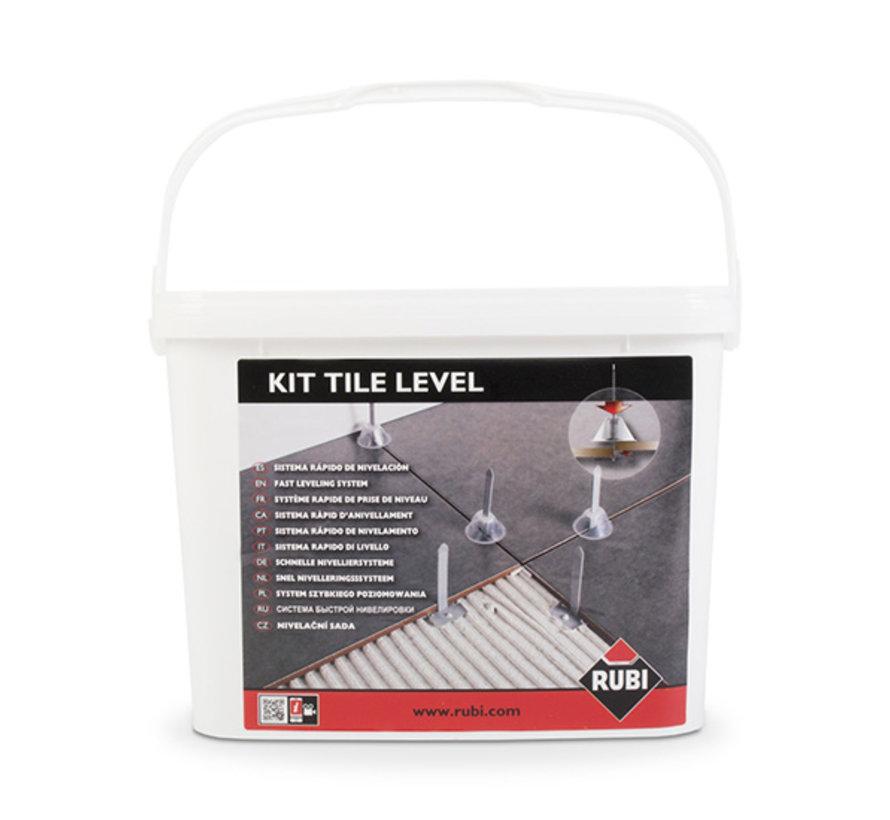 Rubi Tile Levelling Kit 100 st. Voetjes + 100 st. Kapjes + Tang