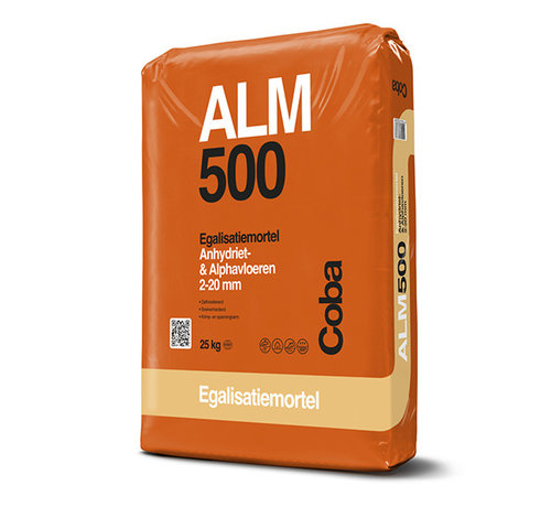 Coba Coba ALM 500 Egaliseren Alpha- en Anhydrietvloeren 25 kg.
