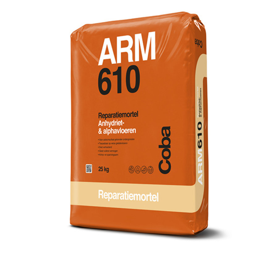 Coba ARM 610 Reparatiemortel Alpha- en Anhydrietvloeren 25 kg