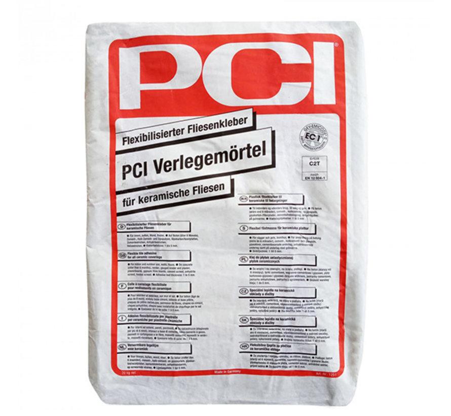 PCI Tegellijm Basic Flex 20 kg. Verlegemoertel