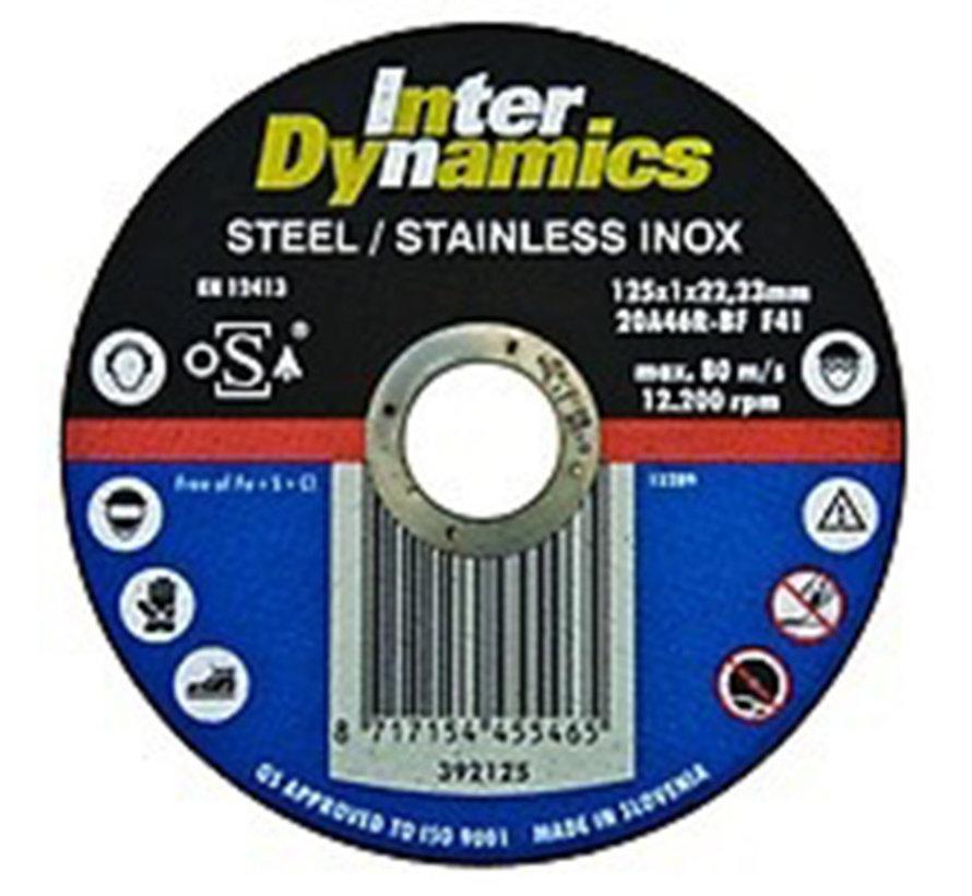 InterDynamics Doorslijpschijf 115x1mm INOX