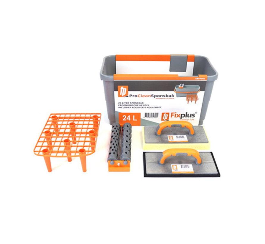 Fix Plus ® Pro Clean Sponsbak 24L Compleet