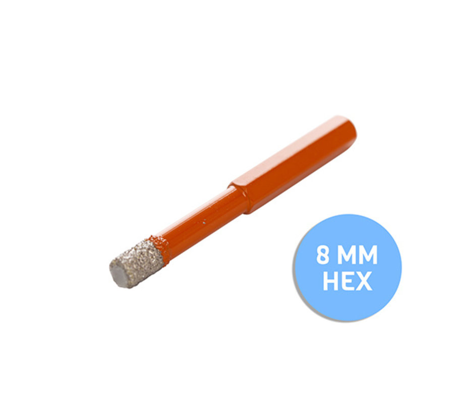 Fix Plus ® Tegelboor 6 Kant - Wax Ø 8mm.