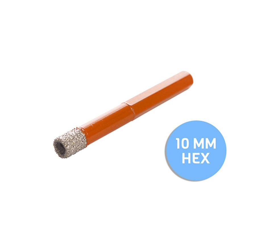 Fix Plus ® Tegelboor 6 Kant - Wax Ø 10mm.