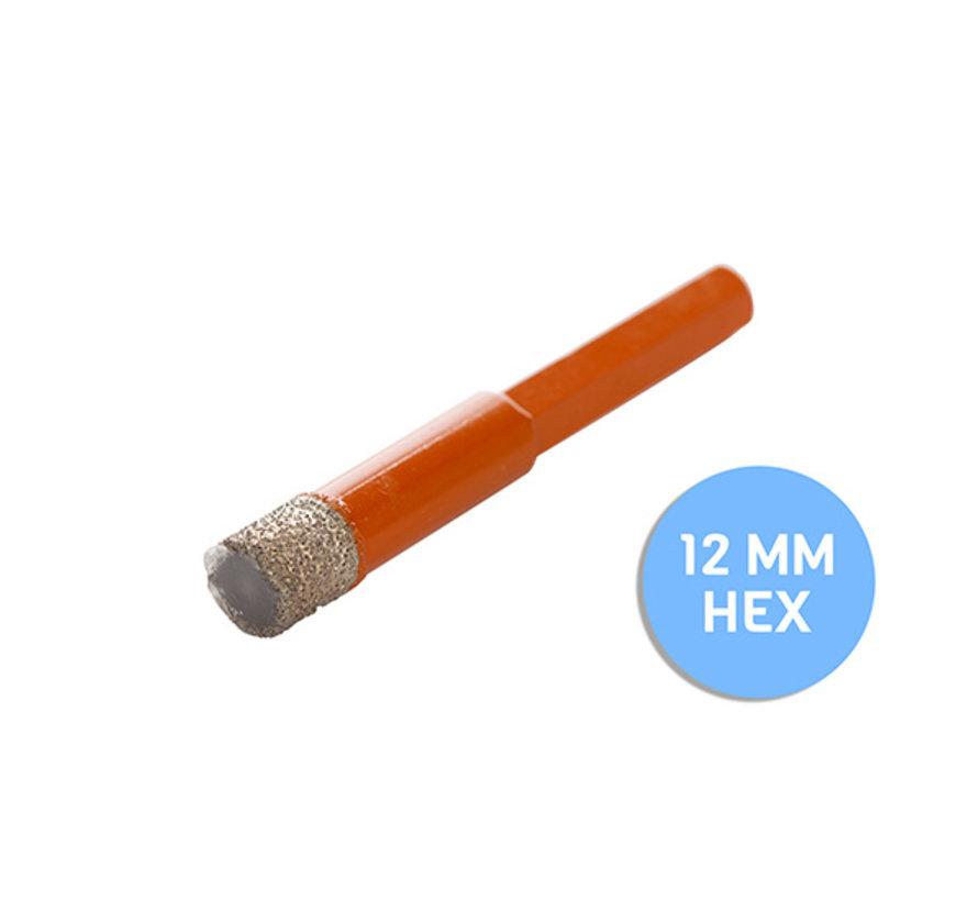 Fix Plus ® Tegelboor 6 Kant - Wax Ø 12mm.